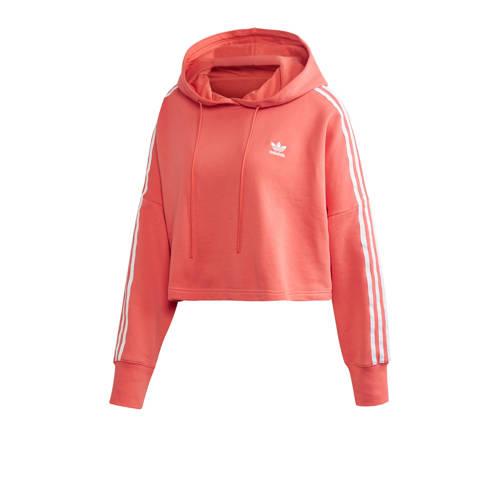 adidas Originals Adicolor cropped hoodie koraalroo