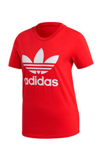 adidas Originals Adicolor T-shirt rood/wit, Rood/wit