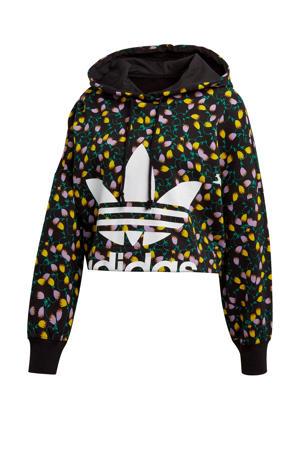 cropped hoodie multi