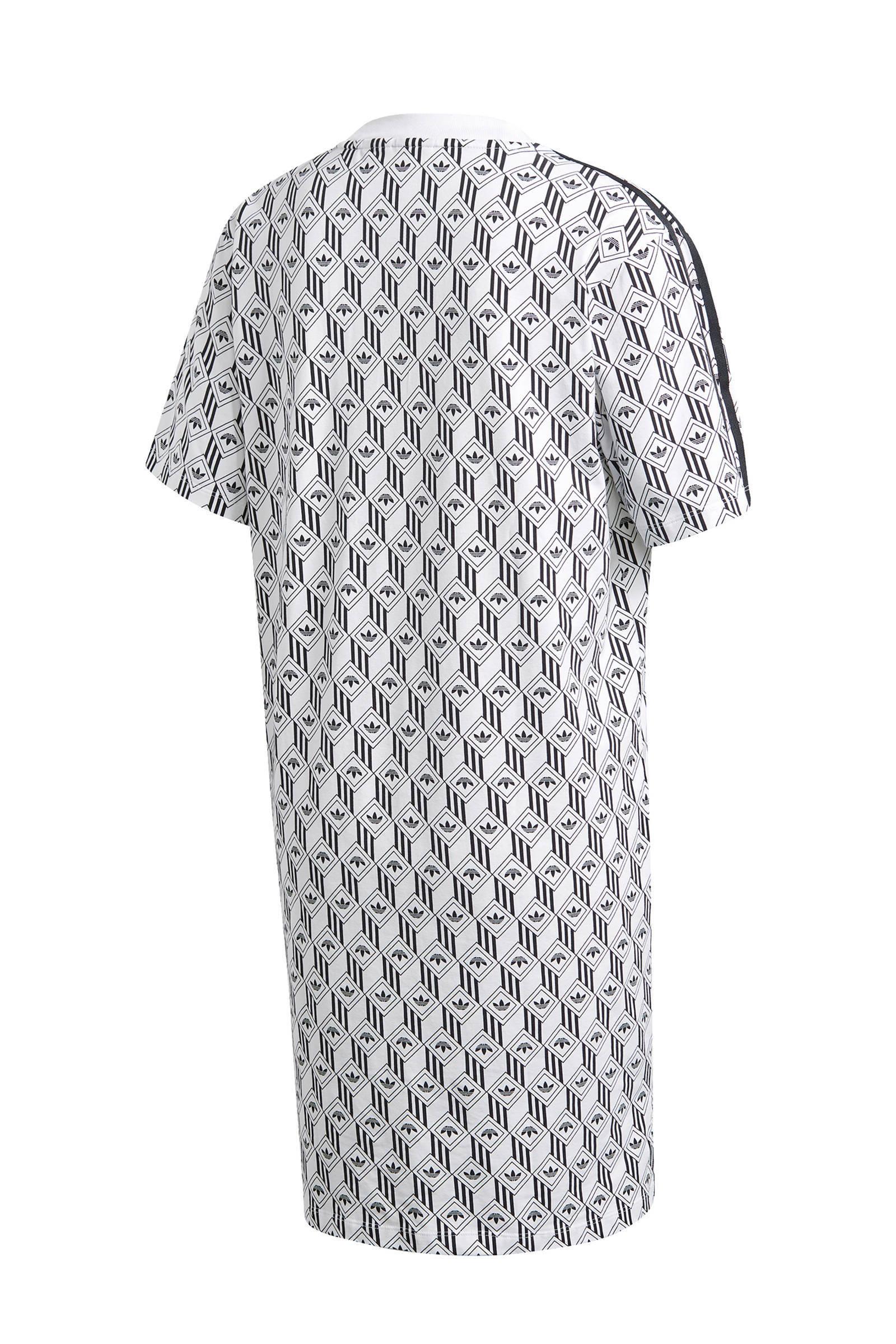 adidas Originals T shirt jurk witzwart | wehkamp