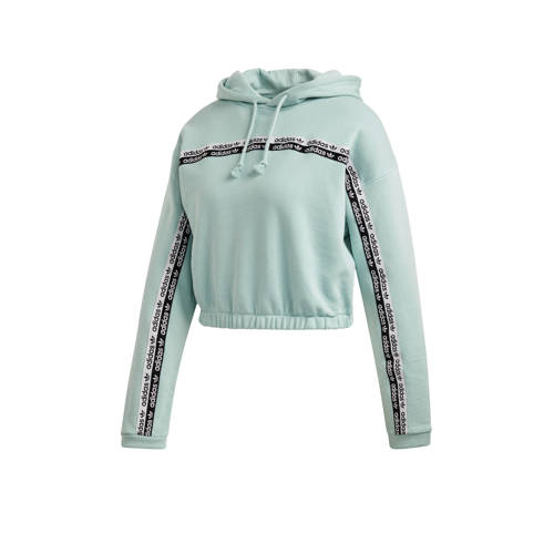 adidas Originals cropped hoodie mintgroen