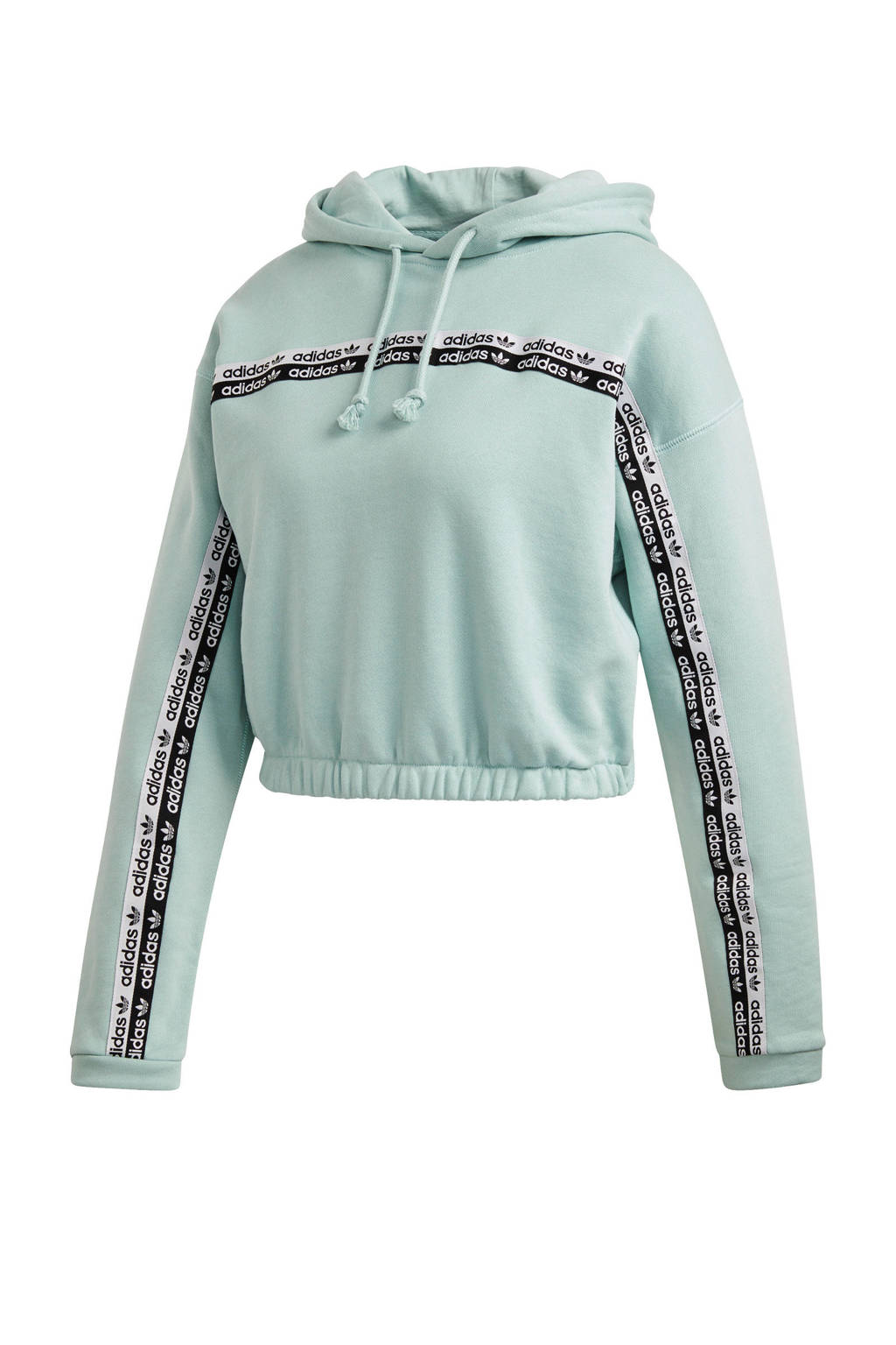 adidas Originals cropped hoodie mintgroen, Mintgroen