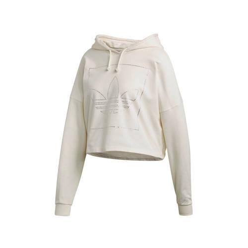 adidas Originals cropped hoodie beige