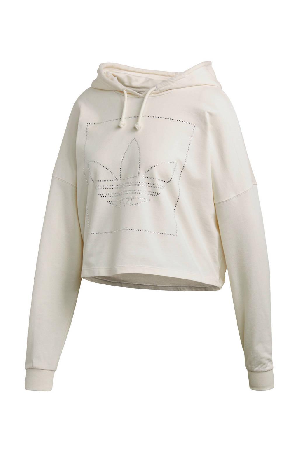 adidas Originals cropped hoodie beige, Beige