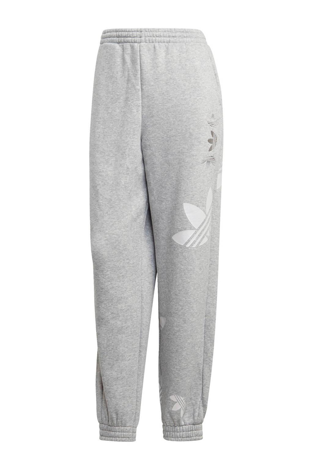 adidas Originals Adicolor joggingbroek grijs melange/wit, Grijs melange/wit