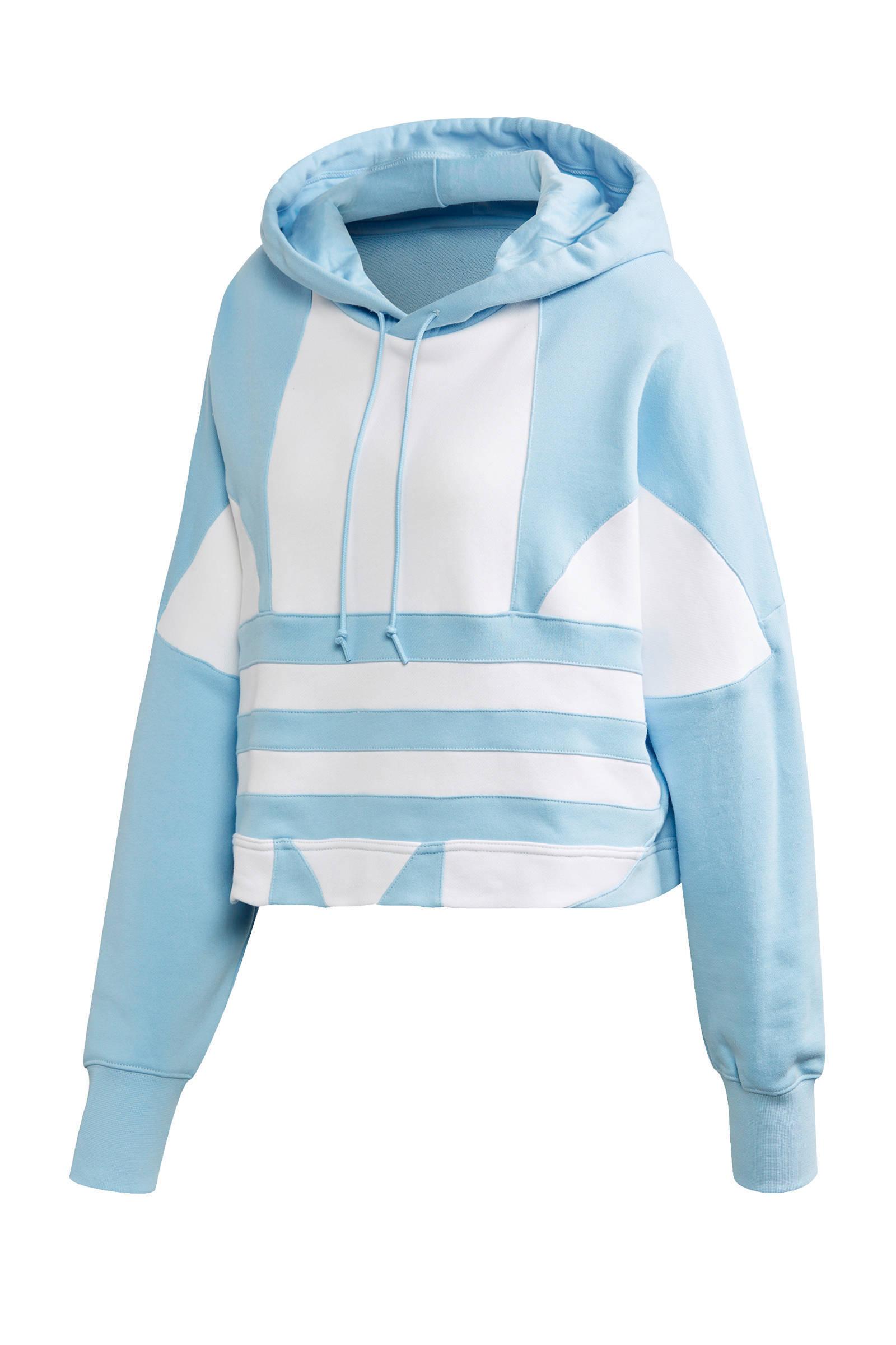 adidas Originals Adicolor cropped hoodie witzwart | wehkamp