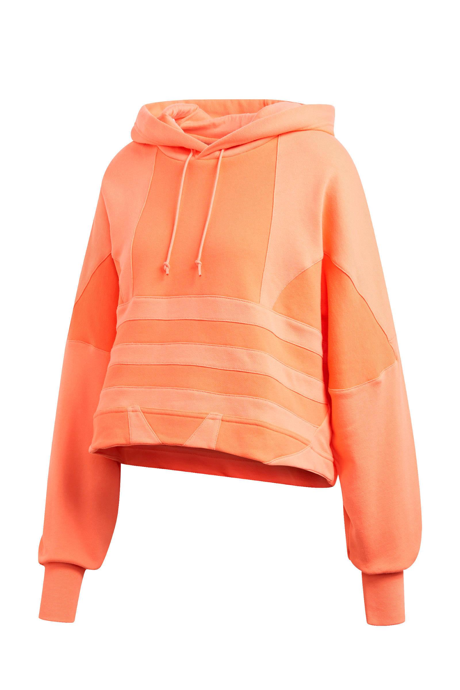 adidas Originals cropped hoodie oranje | wehkamp