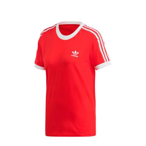 adidas originals Adicolor T-shirt rood-wit
