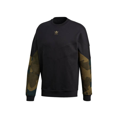 adidas Originals sweater camouflageprint/zwart