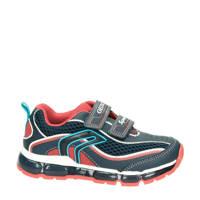 Geox Android  sneakers met lichtjes blauw/rood, Blauw/multi