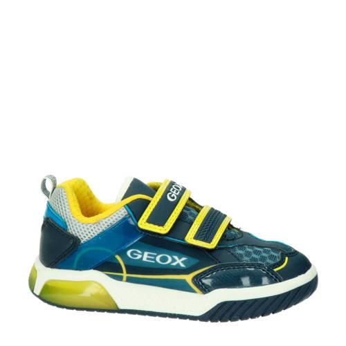 Geox Inek sneakers met lichtjes blauw/geel