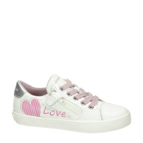 Geox sneakers wit/roze