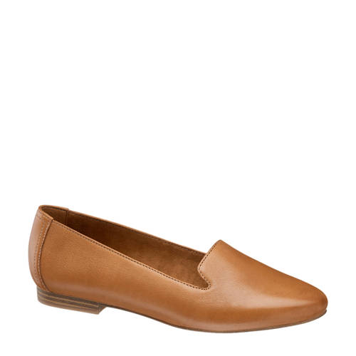5th Avenue leren loafers cognac
