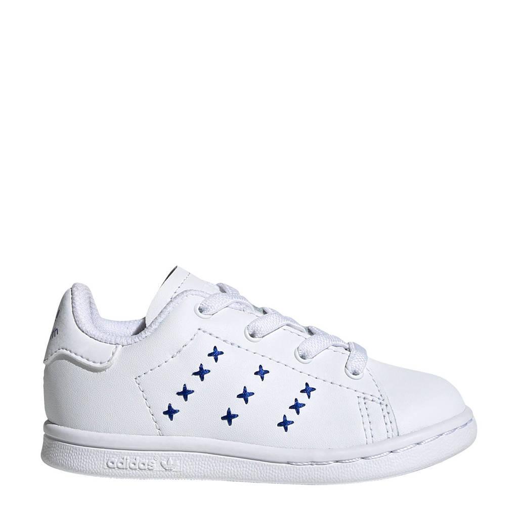 adidas Originals Stan Smith EL I leren sneakers wit/blauw, Wit/kobaltblauw