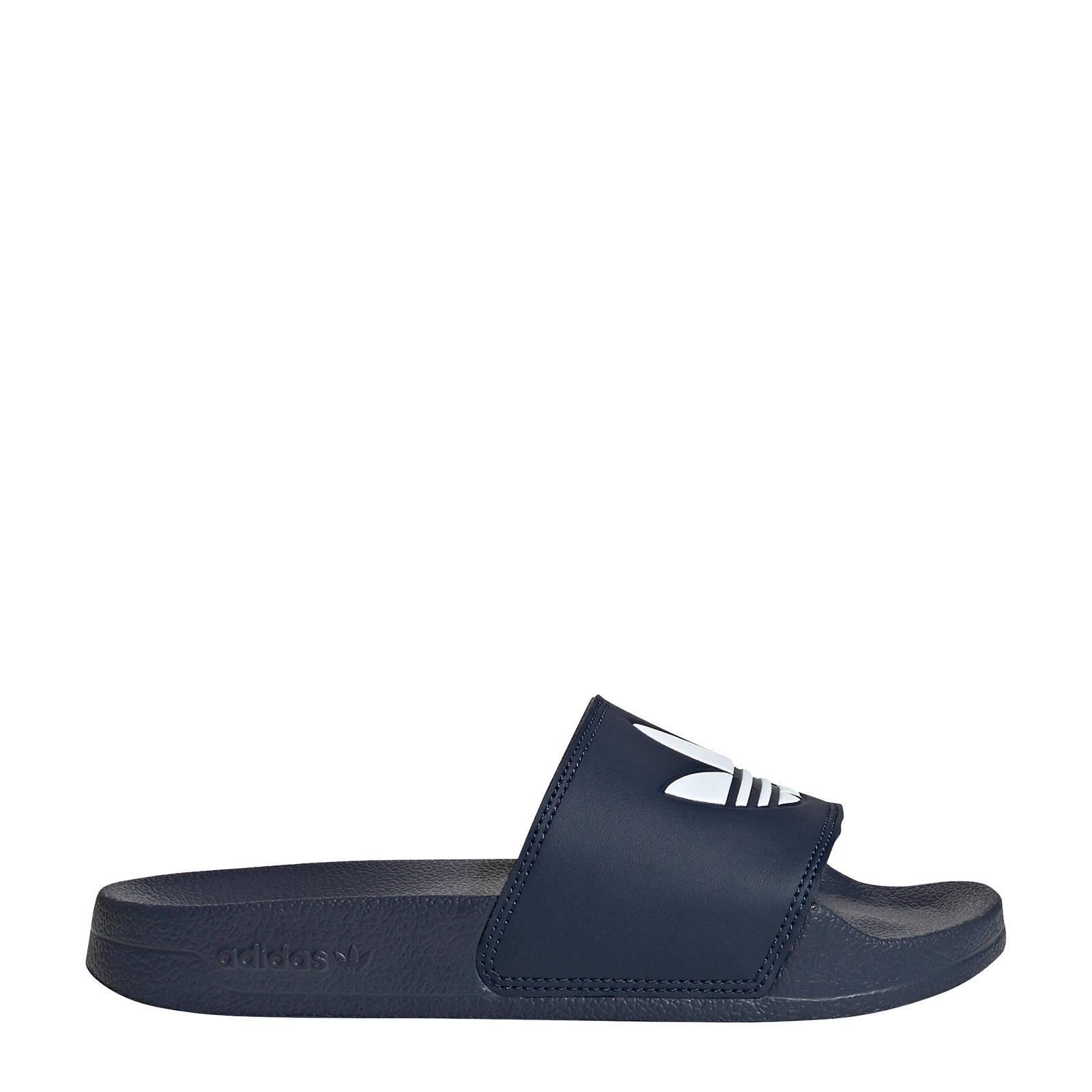 adidas Originals Adilette Lite badslippers donkerblauwwit