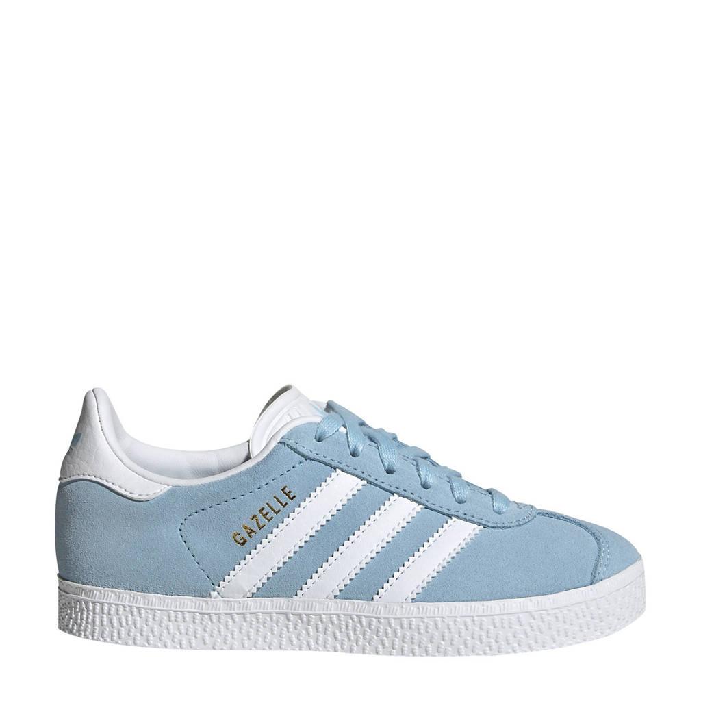adidas Originals Gazelle C suède sneakers lichtblauw/wit, Lichtblauw/wit