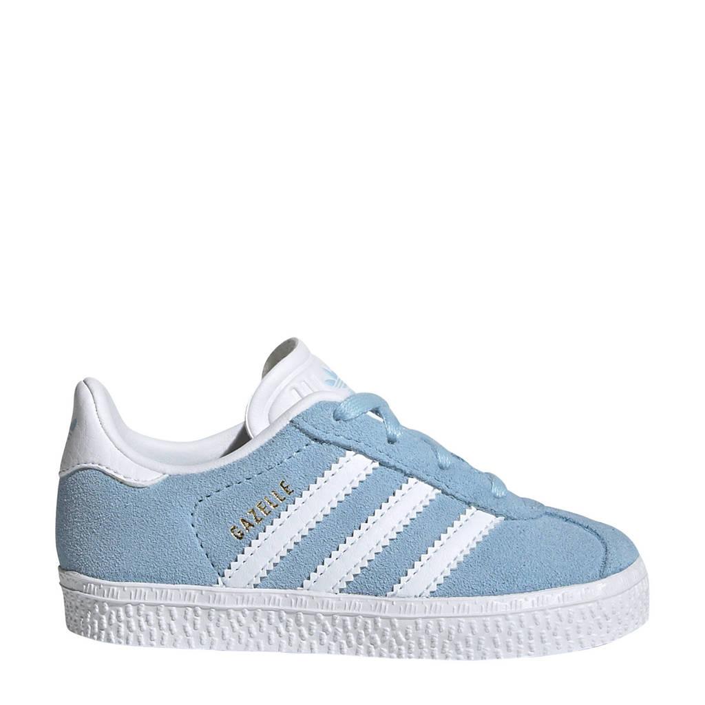 adidas Originals Gazelle   suède sneakers lichtblauw/wit, Lichtblauw/wit