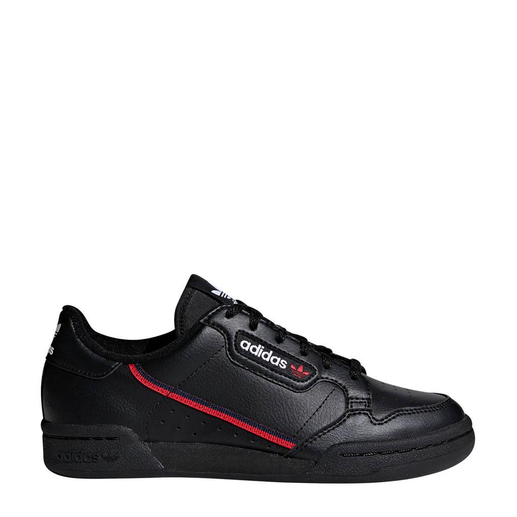 adidas Originals Continental 80 J sneakers zwart, Zwart/rood