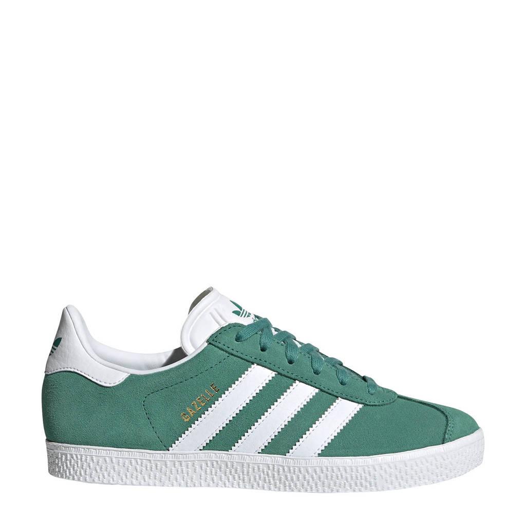 adidas Originals Gazelle J suède sneakers groen/wit, Groen/wit