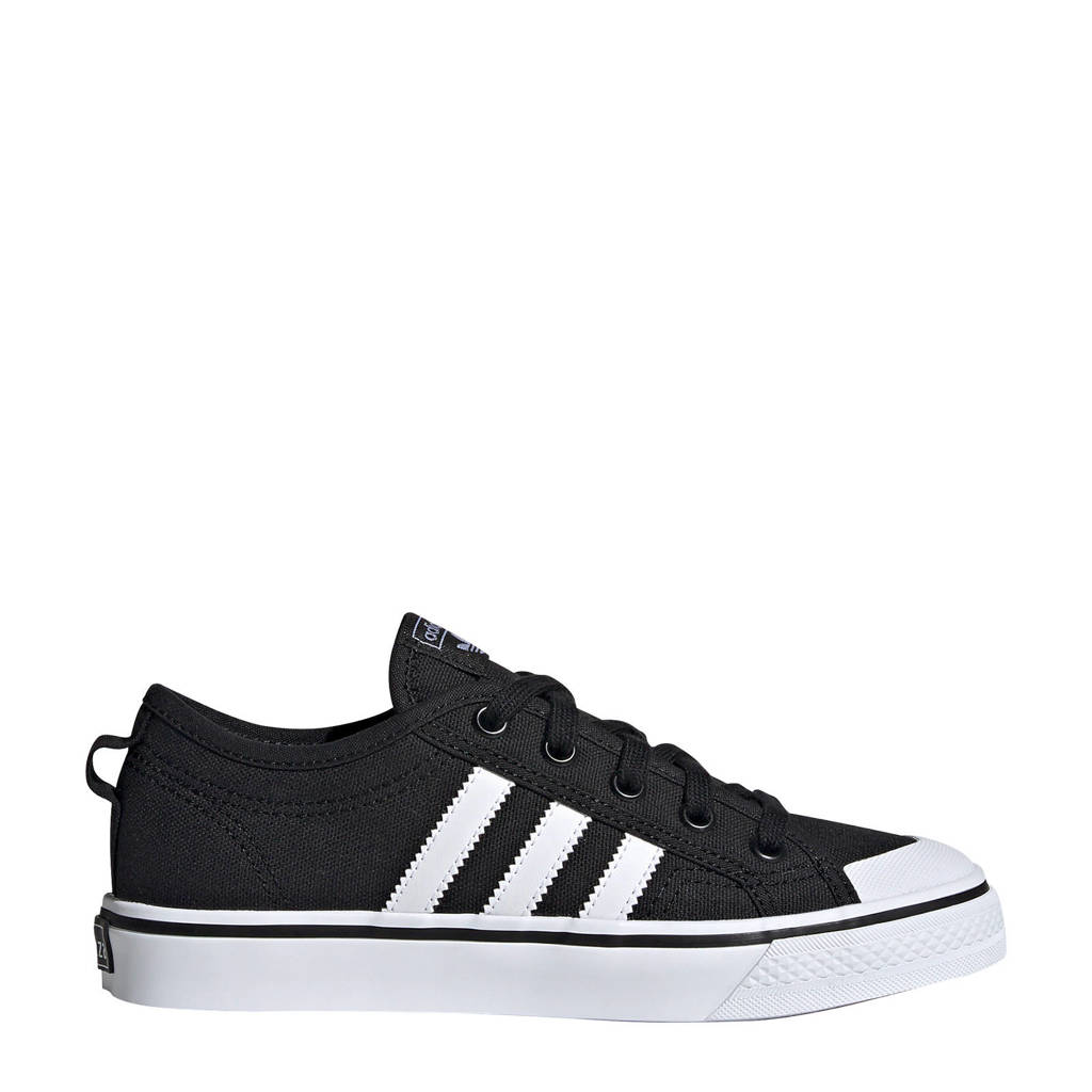 adidas Originals Nizza J sneakers zwart/wit, Zwart/wit