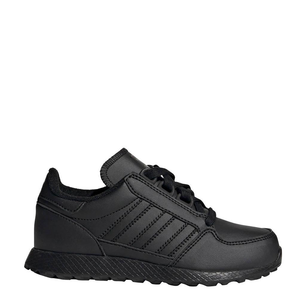 adidas Originals Forest Grove C leren sneakers zwart, Zwart