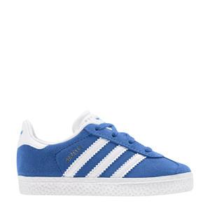 Gazelle   suède sneakers blauw/wit