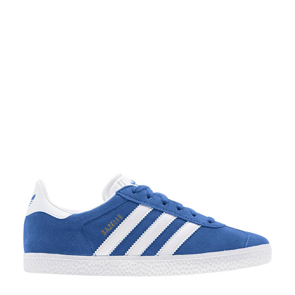 adidas Originals Gazelle J suède sneakers kobaltblauw/wit, Kobaltblauw/wit