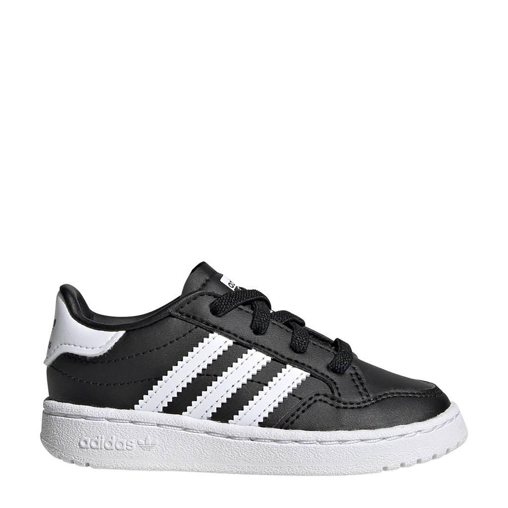 adidas originals Team Court EL I sneakers zwart/wit, Zwart/wit