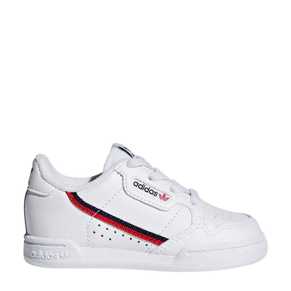 adidas Originals Continental 80 EL I sneakers wit/rood, Wit/rood