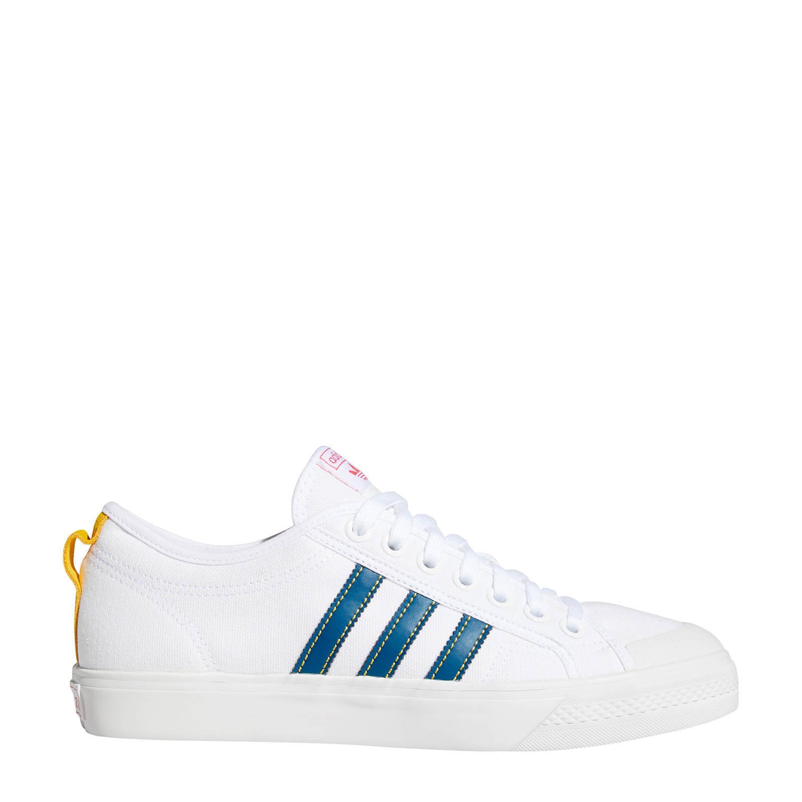 adidas Originals Nizza sneakers wit/blauw | wehkamp