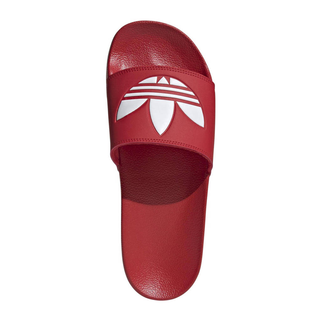 adidas Originals Adilette Lite slippers rood/wit, Rood/wit