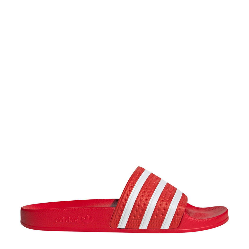 adidas Originals Adilette Lite badslippers rood/wit, Rood/wit/