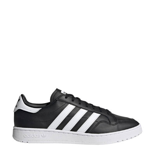 adidas originals Team Court sneakers zwart-wit