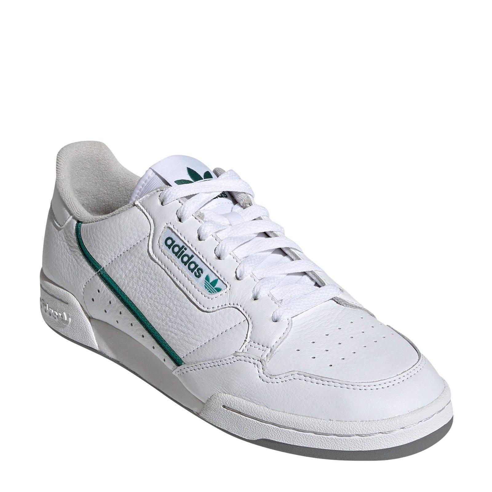 adidas Originals Continental 80 sneakers wit/groen | wehkamp