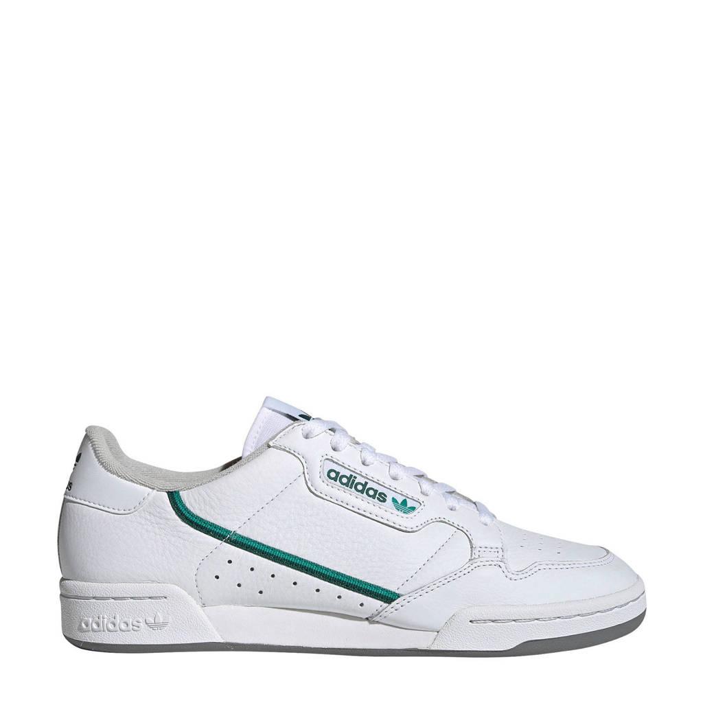 adidas Originals Continental 80  sneakers wit/groen, Wit/groen