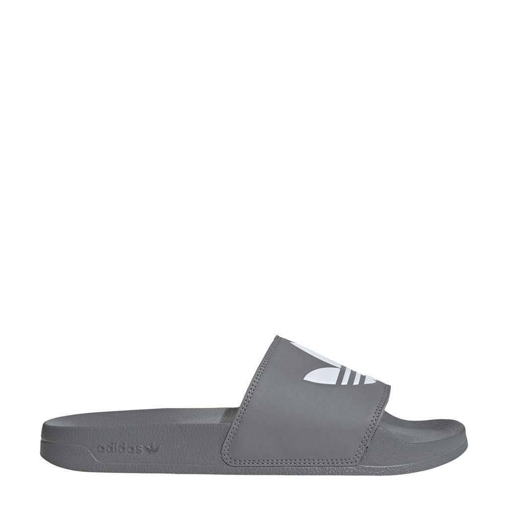 adidas Originals Adilette Lite badslippers grijs/wit, Grijs/wit