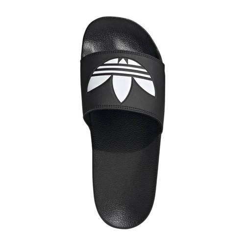 adidas Originals Adilette Lite badslippers zwart-wit