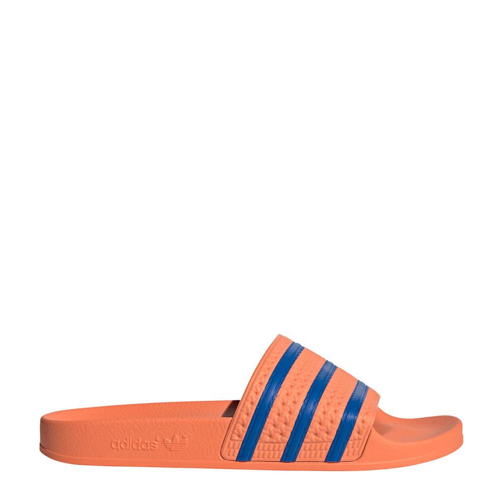 adidas Originals Adilette  badslippers oranje/blauw, Oranje/blauw