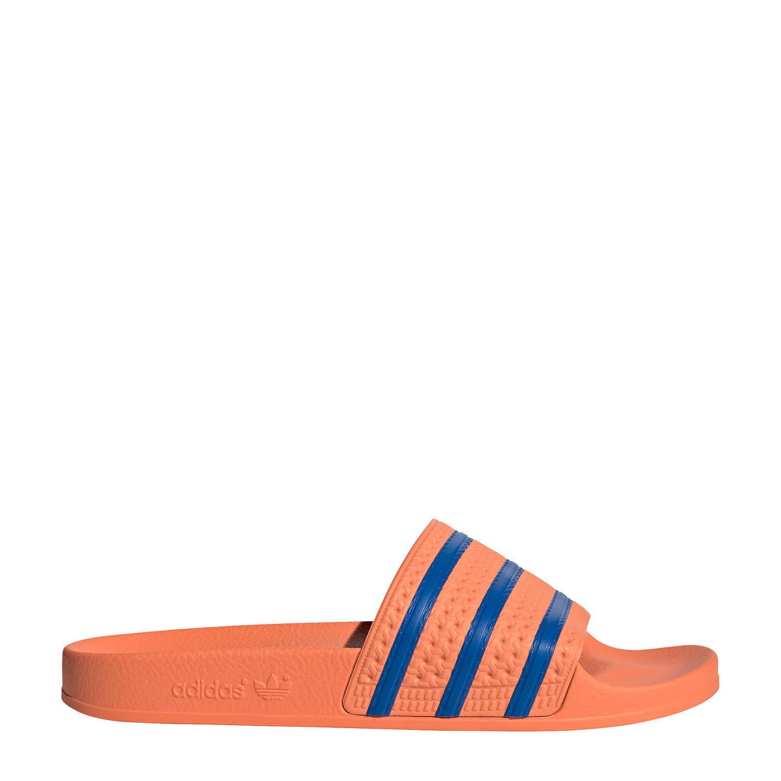 adidas Originals Adilette badslippers rozeblauw | wehkamp
