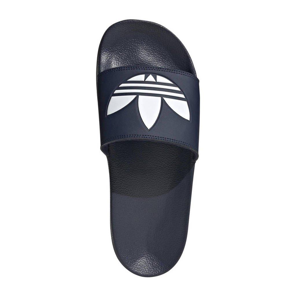 adidas Originals Adilette Lite badslippers donkerblauw/wit, Donkerblauw/wit