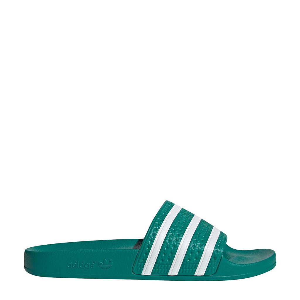 adidas Originals Adilette  badslippers groen/wit, Groen/wit