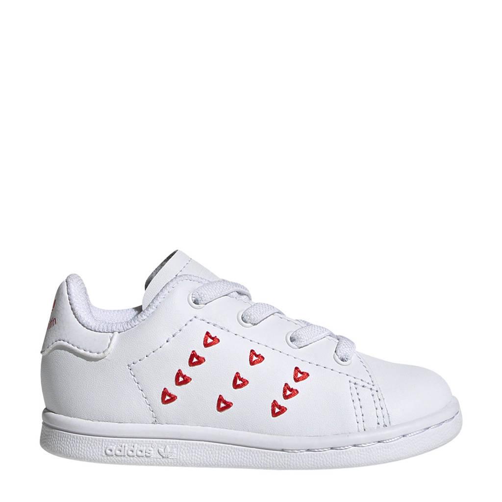 adidas Originals STAN SMITH EL I leren sneakers wit/rood, Wit/rood
