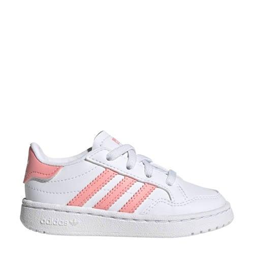 adidas Originals Team Court EL I sneakers wit/roze