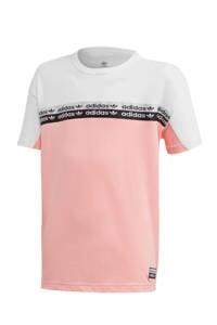 adidas Originals T-shirt lichtroze/wit, Lichtroze/wit