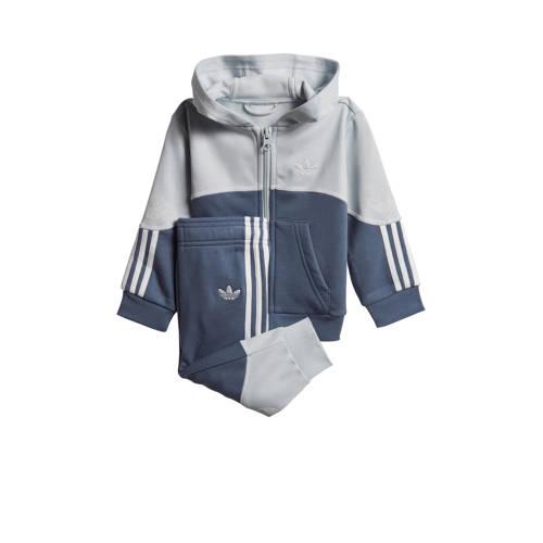 adidas Originals joggingpak donkerblauw-grijs