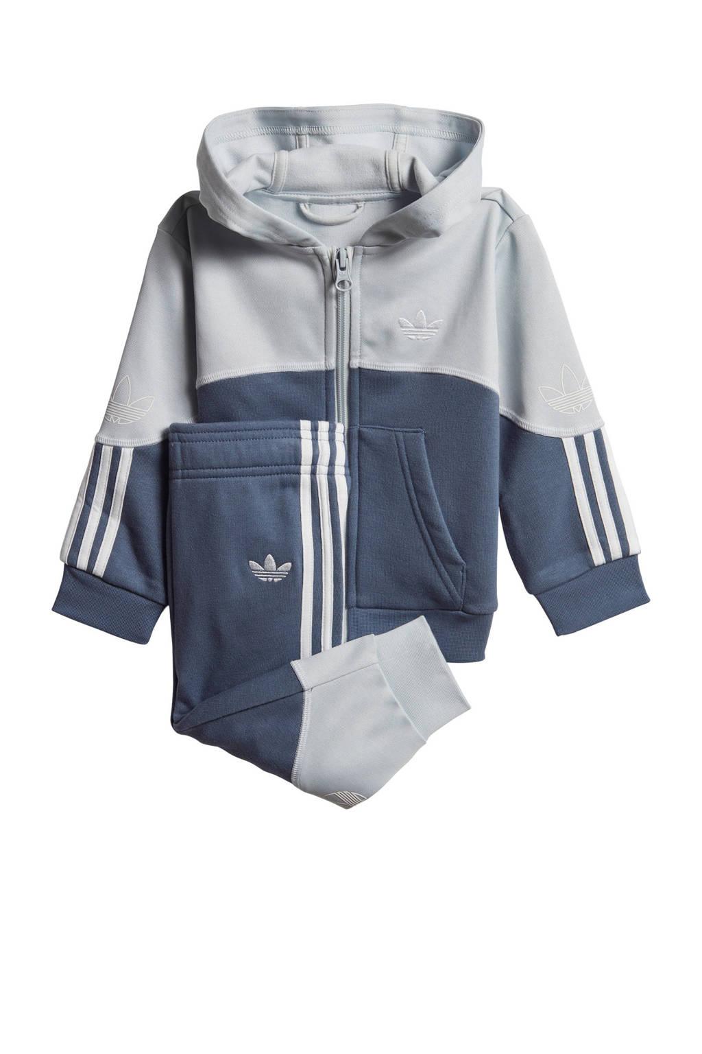 adidas Originals   joggingpak donkerblauw/grijs, Donkerblauw/grijs