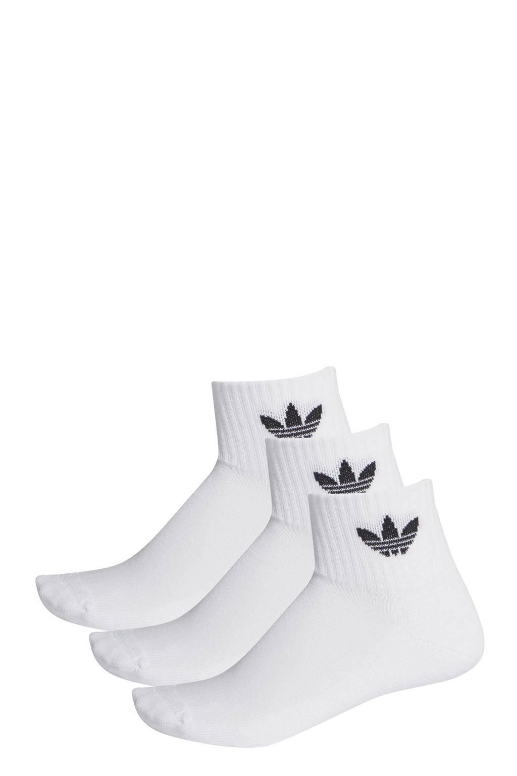 adidas Originals   Adicolor sokken set van 3 wit/zwart, Wit/zwart