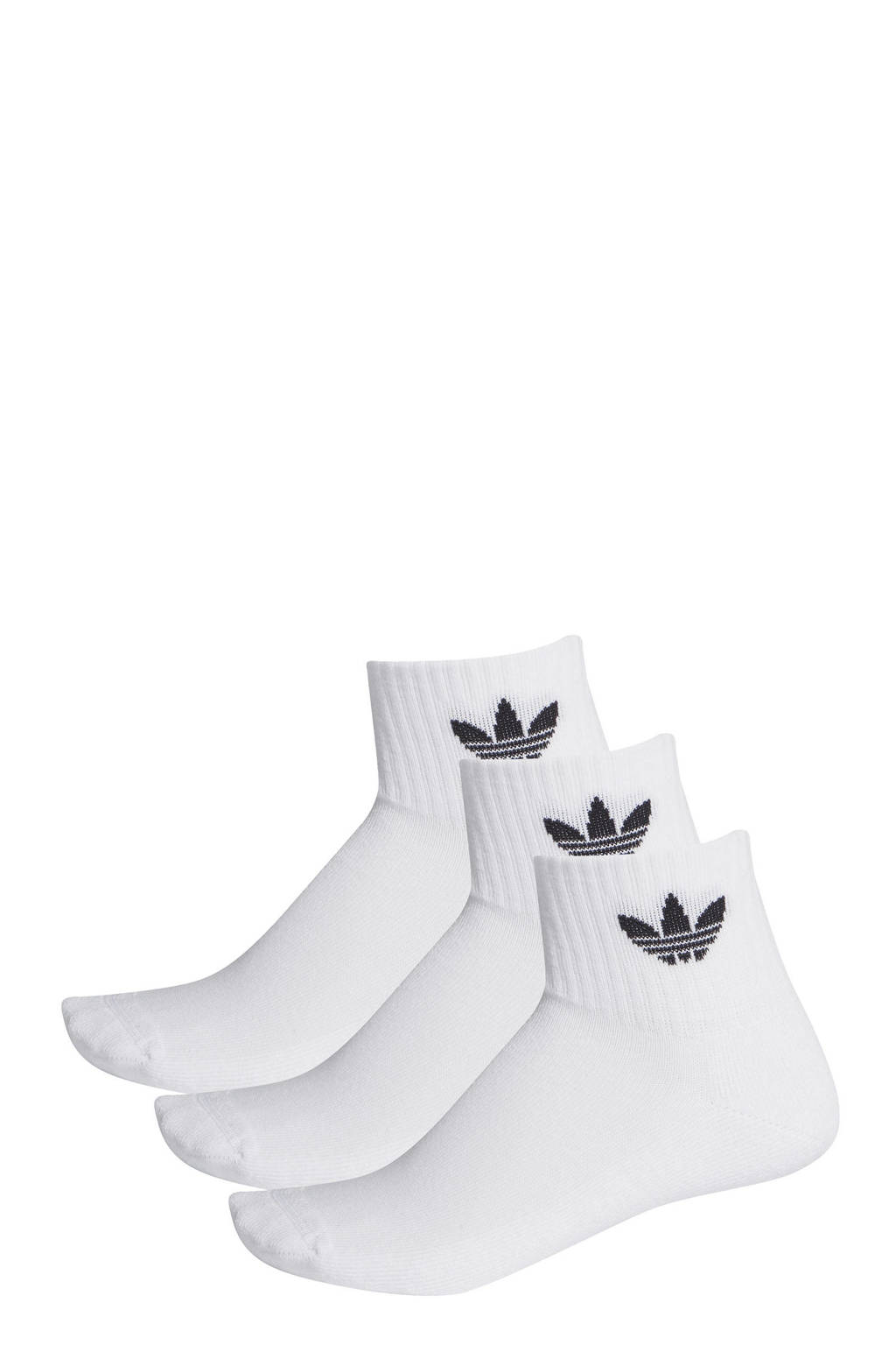 adidas Originals   sportsokken wit (set van 3), Wit