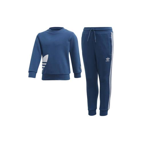adidas originals joggingpak blauw