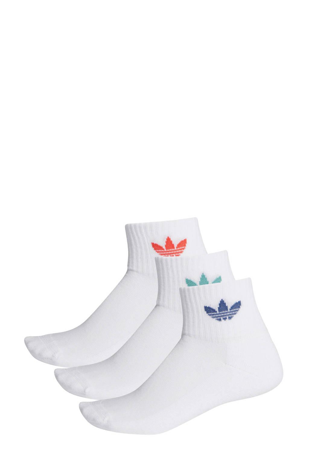 adidas Originals   sportsokken wit (set van 3), Wit